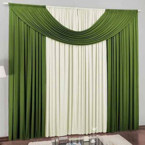 cortina cristal em malha 2,00m x 1,70m para varão simples