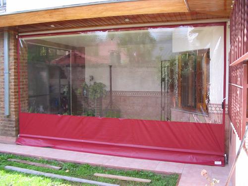 cortina cristal transpa lona camion  galeria quin  a medida