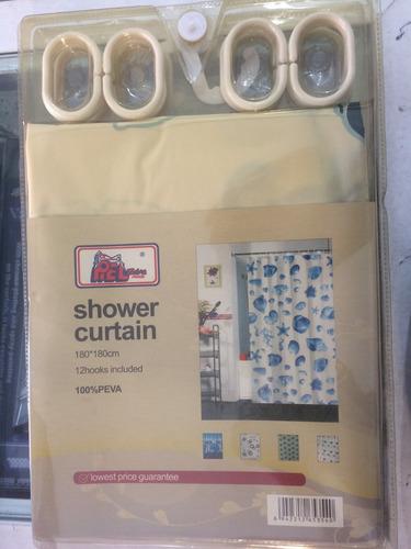 cortina de baño 100% lavable y impermeables