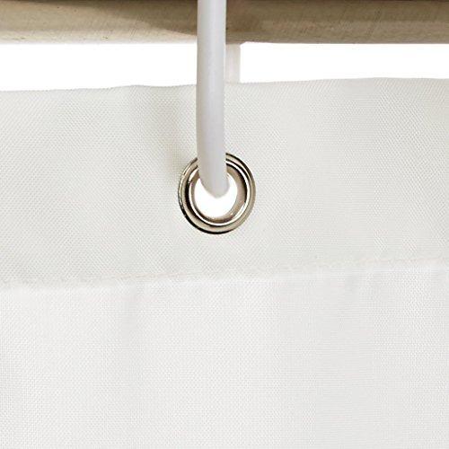 cortina de baño - 183 x 183 cm - color blanco