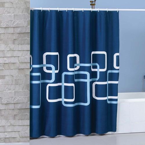 cortina de baño edimburgo azul marca concord
