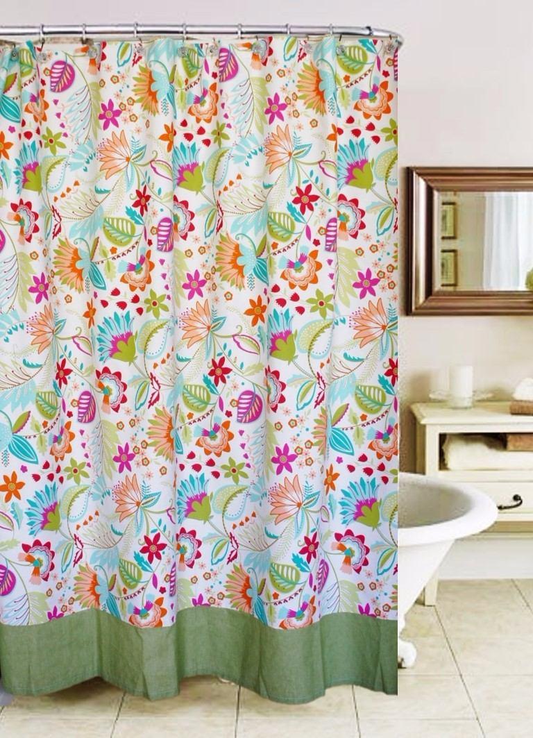 cortina de bao en tela estampada diseo exclusivo