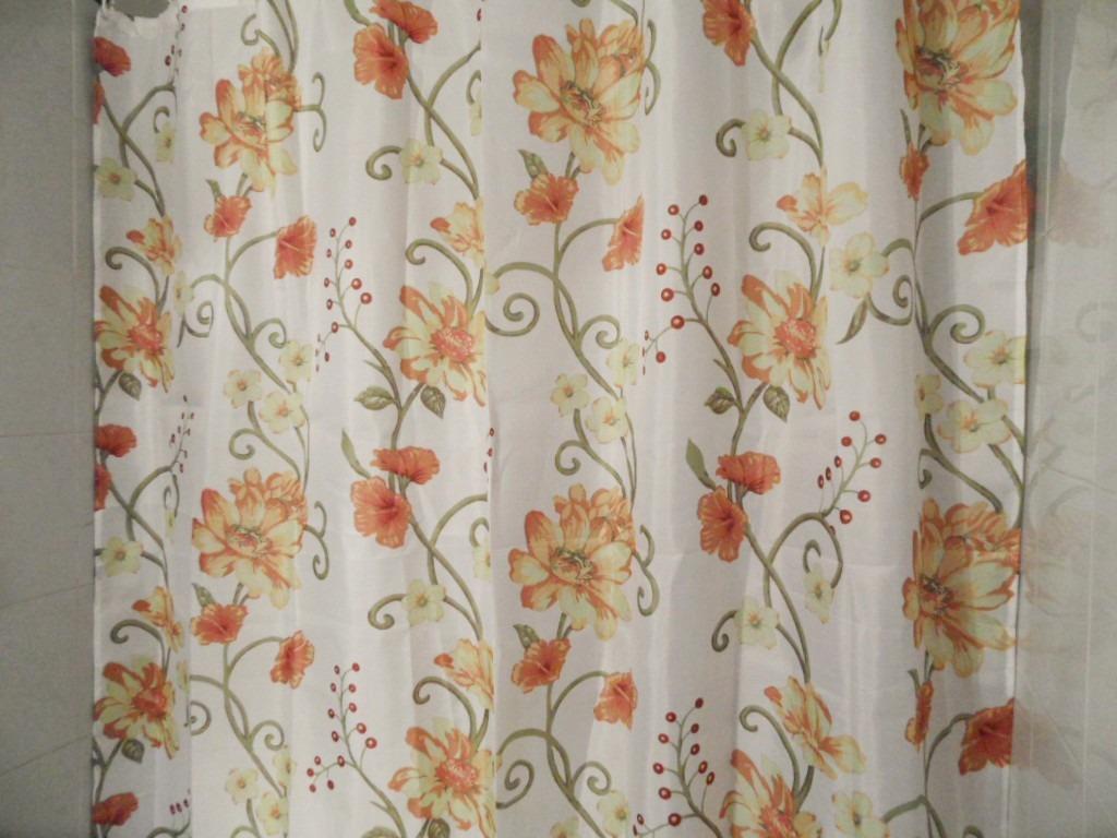 Cortina De Ba O Flores Amarillas Y Naranjas 12 Argollas