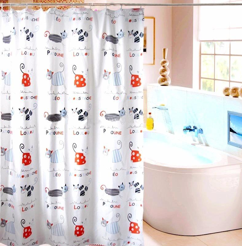 Cortina de ba o hermoso dise o dibujos de gato 180x180 cms en mercado libre - Cortinas de bano de diseno ...