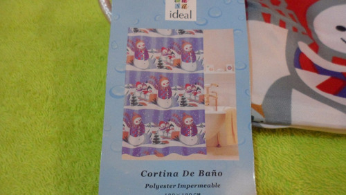 cortina de baño impermeable navideña.180x180.mod.6-7-8
