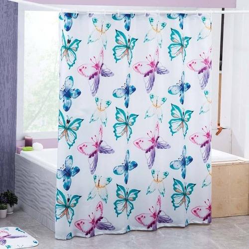 cortina de baño mariposa marca concord
