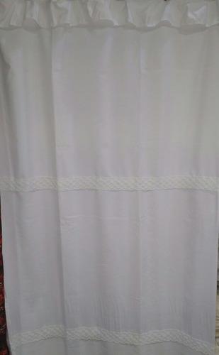 cortina de baño tela 1,80mt. clásica pasacinta con protector