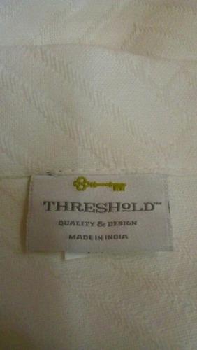cortina de baño tela.made in india natural white