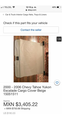 cortina de cajuela tahoe, escalade, yukon 2000-2006