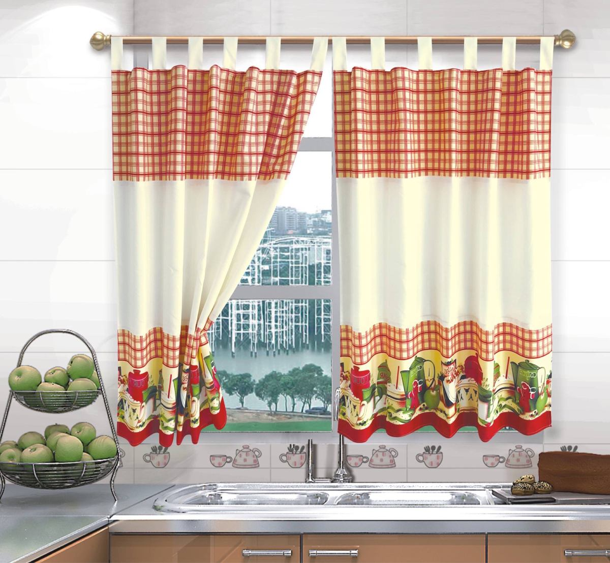 Cortinas de cocina rustica ideas de disenos for Cortinas de cocinas ideas