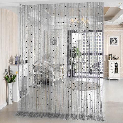 cortina de corda com contas de cristal acrilico