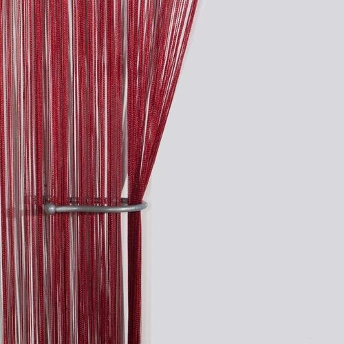 cortina de corda franja decorativa com varão regulável