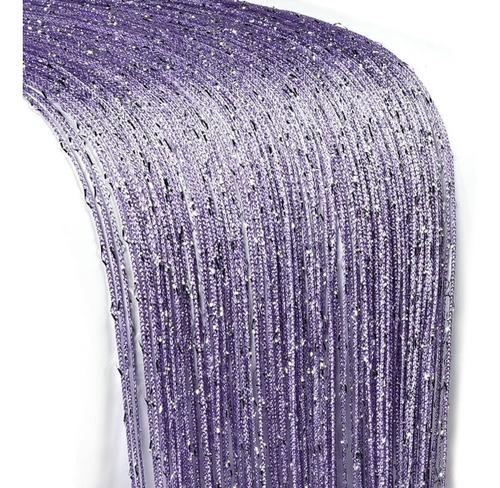 cortina de corda lilás púrpura luxo brilho reluzente