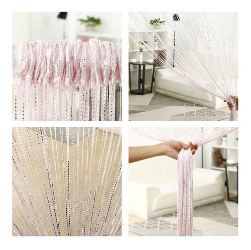 cortina de corda luxo brilhante
