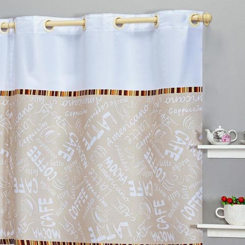 cortina de cozinha 2,00 m x1,45 m doce lar decoração