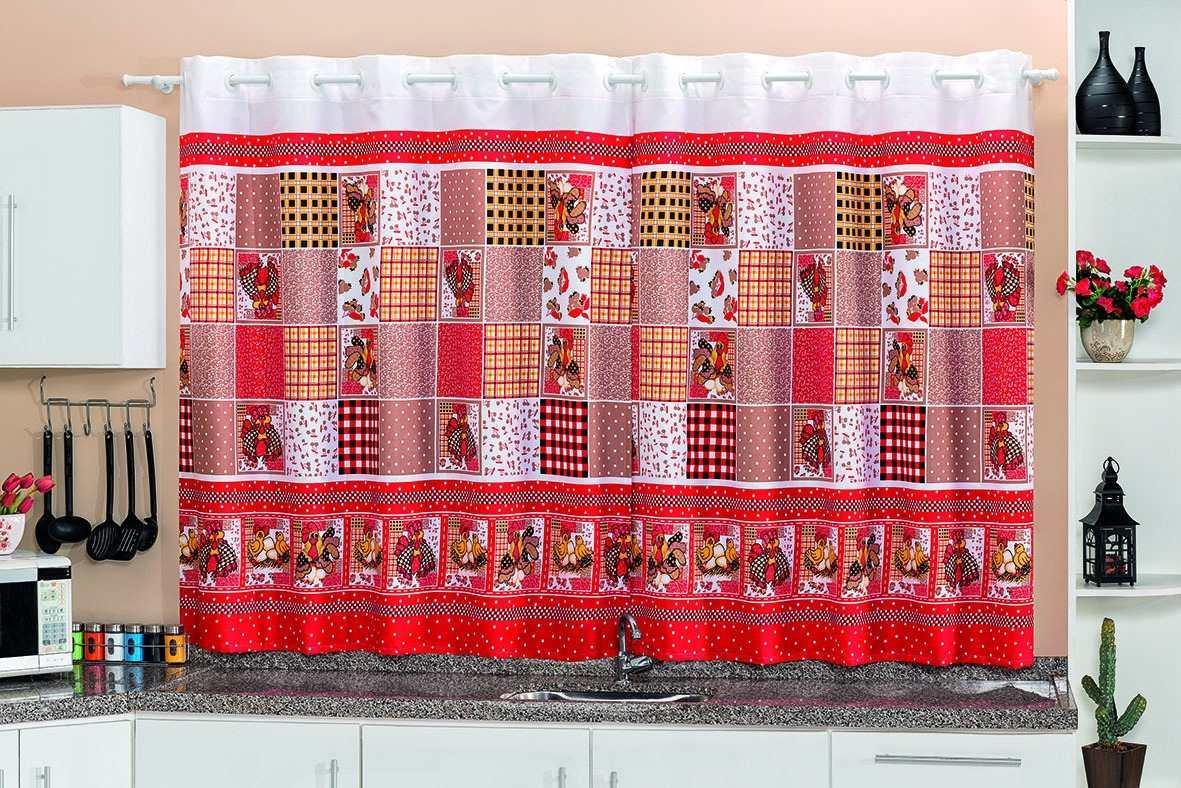 Cortina De Cozinha Estampada P Janela 2 00×1 30 Var O Ilh S R 49