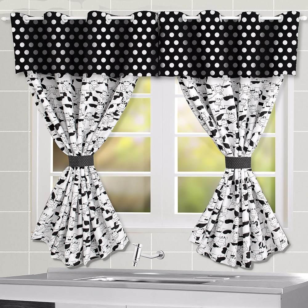 Cortina Para Cozinha Preto E Branco Oppenau Info