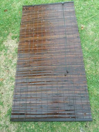cortina  de enrollar de bambu