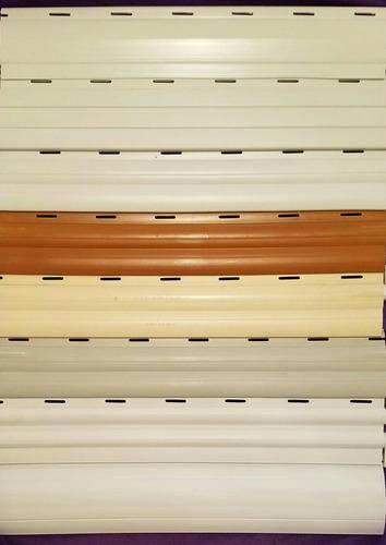 cortina de enrollar reforzada curva pvc curvada persiana
