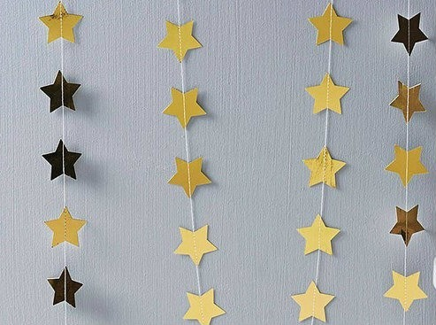 Cortina De Estrellas Papel Decoración Ambientación Eventos   $ 750