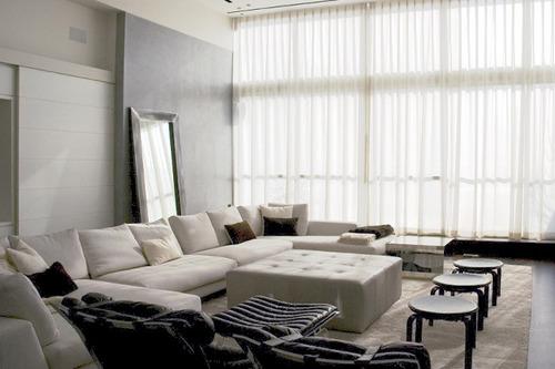 cortina de gasa de algodón con puntilla de tul
