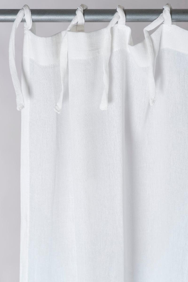 cortina de gasa de algodon con tablitas