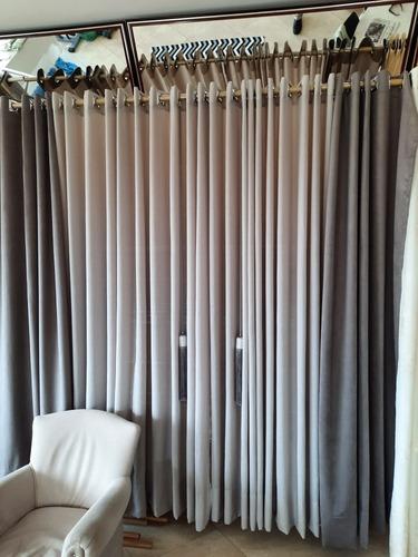cortina de gase com veludo