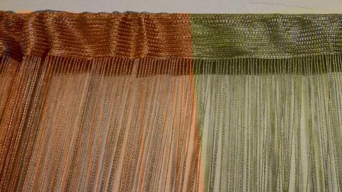 cortina de hilo flecos dividir ambientes decoración