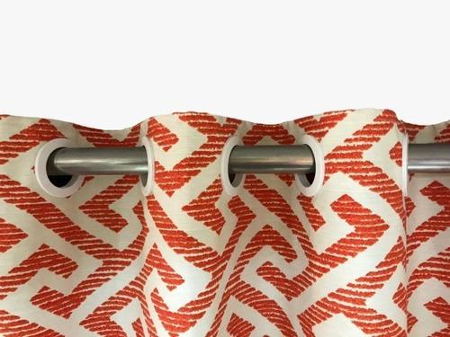 cortina de ilhós gorgorão 280l x 180a - laranja