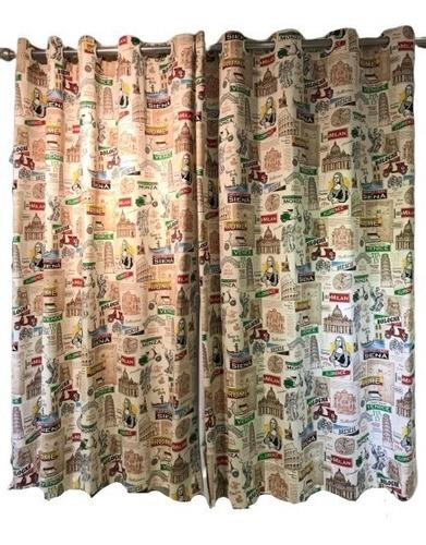 cortina de ilhós sarja 100% algodão 280l x 180a - itália