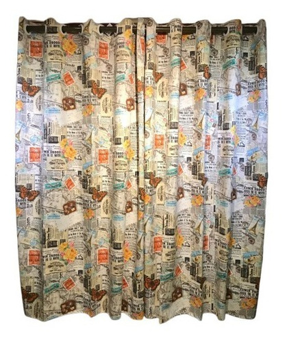 cortina de ilhós sarja com linho 280l x 180a - paris