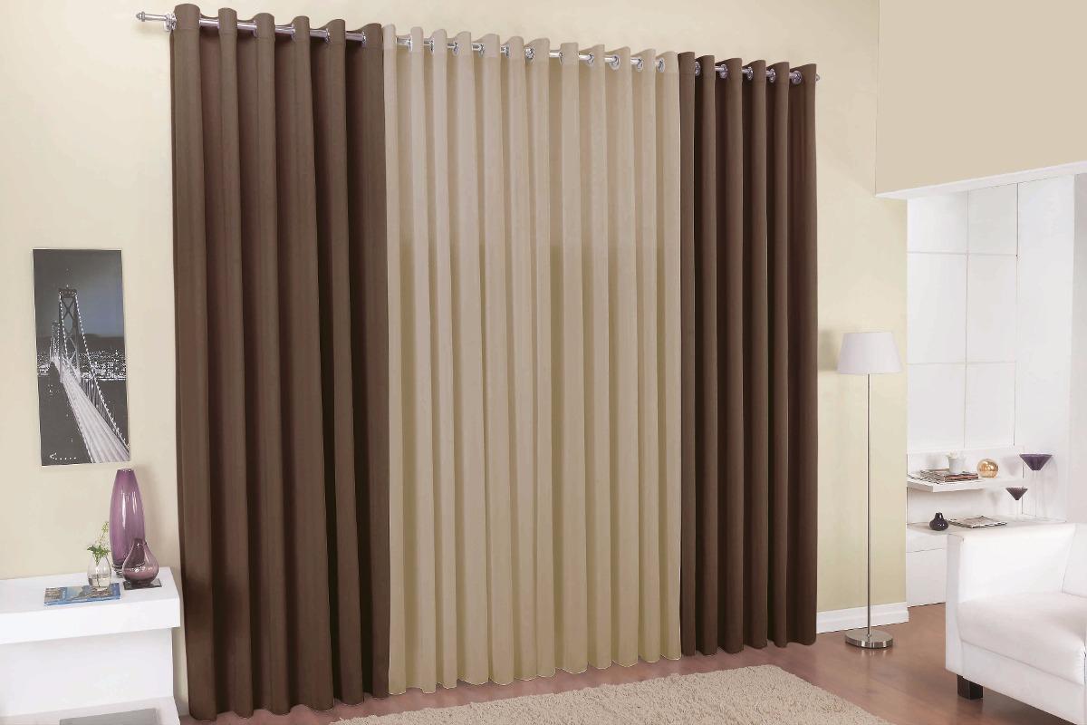 Cortina de janela 2 00x1 70 para quarto ou sala tecido - Cortinas para casa rustica ...