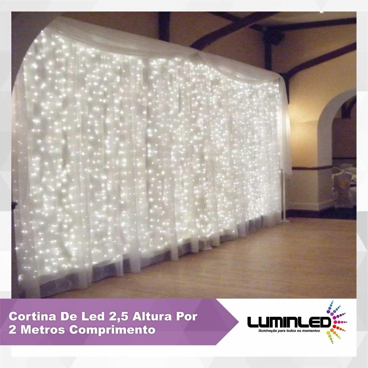 Cortina de led 2 5 altura por 2 5 metros comprimento r - Cortinas por metros ...