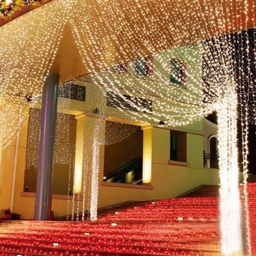 cortina de led amarelo 500 leds 2.8m x 2.5m 110v