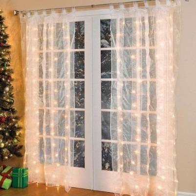 cortina de led amarelo 500 leds 2.8m x 2.5m 220v