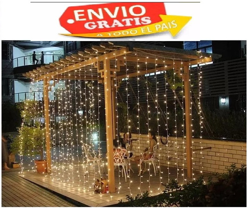 cortina de led decoración de eventos y bodas luces 3x3 mts
