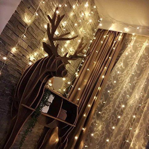 cortina de luces led, 3 * 3m 300 luz led lampara lluminación