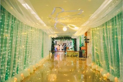 cortina de luces led para eventos (alquiler)
