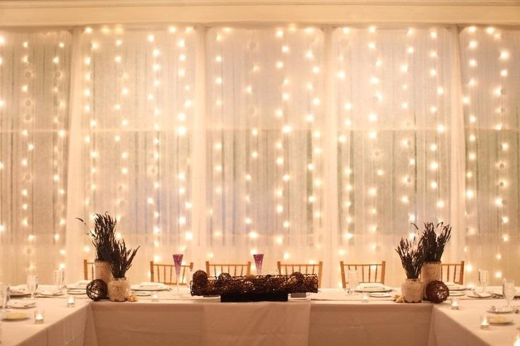 Cortina De Luz Led Blanca Calida 3x3mts Navidad Casamientos