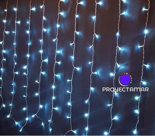 cortina de luz led blanco frio 3x3 mts deco eventos,