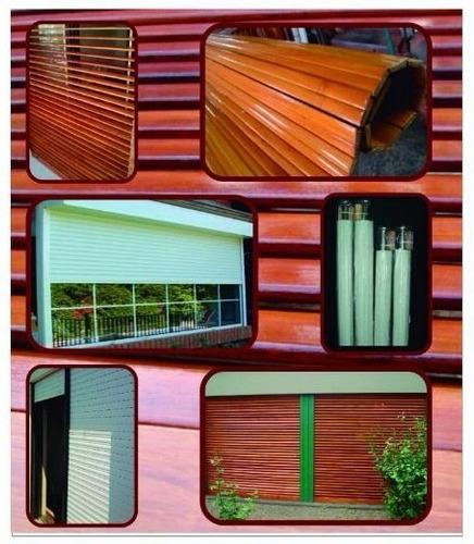 cortina  de madera , pvc y aluminio  ( bs. as. / c.a.b.a )