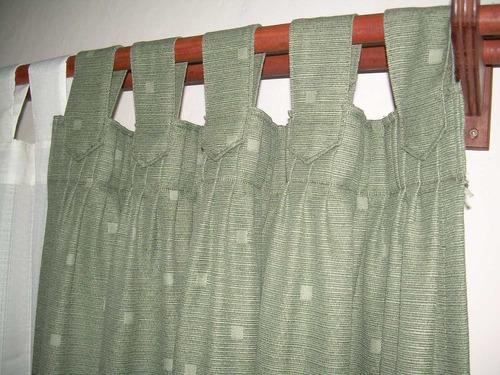 cortina de madras - jacquard pesado liso  o estampado