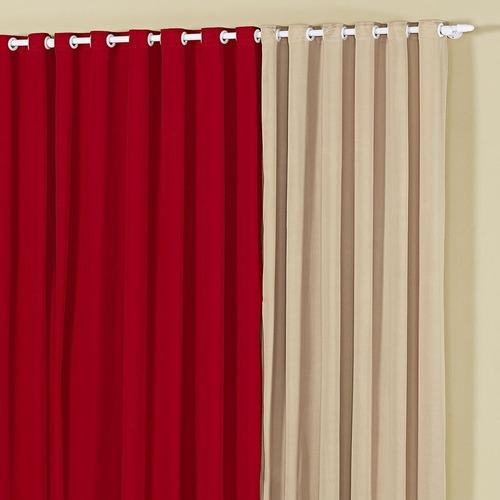 cortina de malha 2,00 m x1,70 m marselle decoração