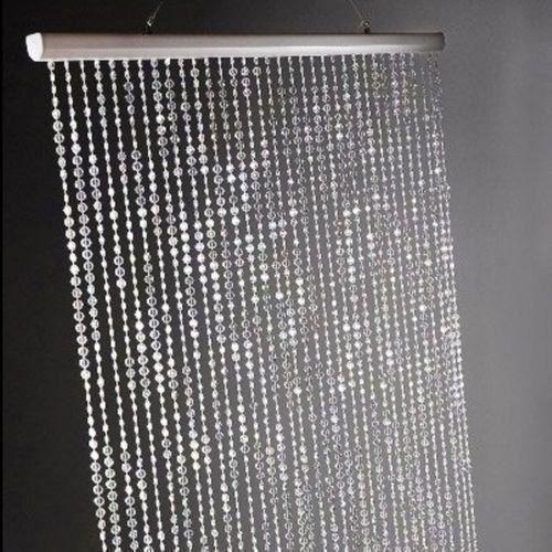 cortina de miçanga acrílica modelo diamante furta cor