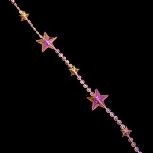 cortina de miçanga acrilica modelo estrela