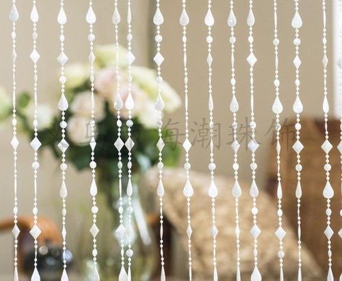 cortina de miçanga acrilica pingo perolada