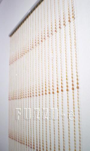 cortina de miçanga decorativa gomo dourada acrilica e brinde