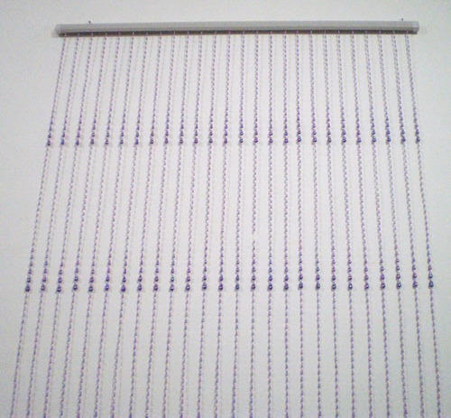 cortina de miçanga decorativa gomo lilás