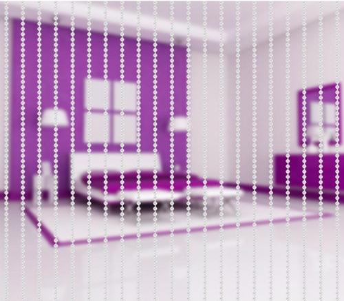 cortina de miçanga decorativa mini pérola acrilica