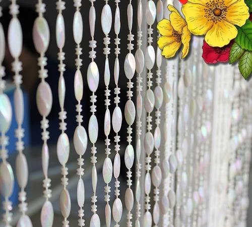 cortina de miçanga disco perolada + brinde